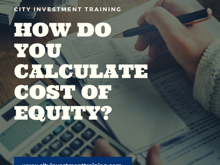 How do you calculate cost of equity?
