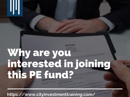 Why are you interested in joining this PE fund?