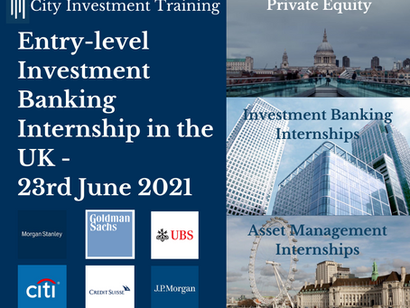 Top 25 entry-level Investment Banking jobs in the UK - 23rd June 2021