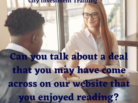 Can you talk about a deal that you may have come across on our website that you enjoyed reading?