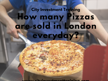 How many Pizzas are sold in London everyday?