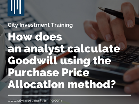 How does an analyst calculate Goodwill using the Purchase Price Allocation method?