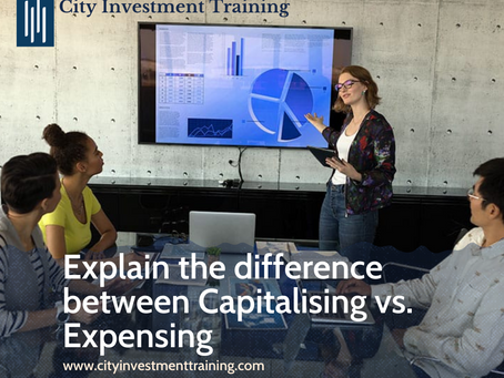 Explain the difference between Capitalising vs. Expensing