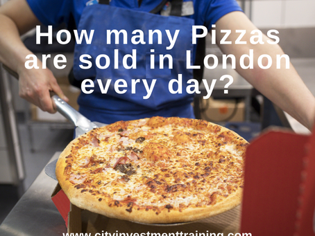 How many Pizzas are sold in London every day?