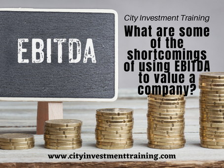 What are some of the shortcomings of using EBITDA to value a company?
