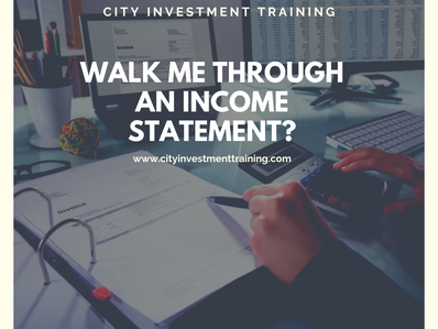 Walk me through an income statement?
