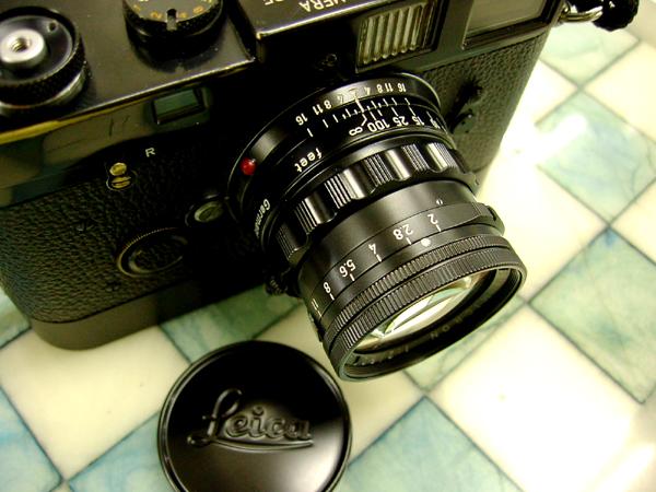 ズミクロン50mm(固定鏡胴) のブラック塗装