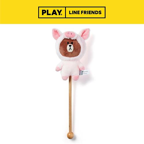 Doll Massage Stick #PIGGY BROWN