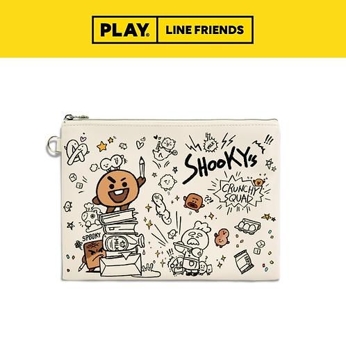 BT21 Flat PU Pouch (L) [Doodle] #SHOOKY