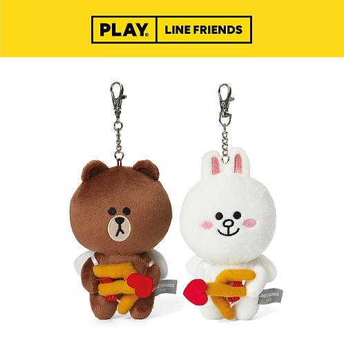 Cupid Standing Keyring Set #BROWN&CONY