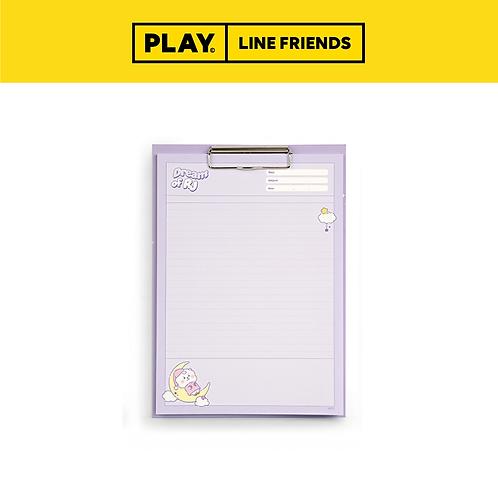 BT21 Clipboard & Notepad Set A4 [Dream] #RJ
