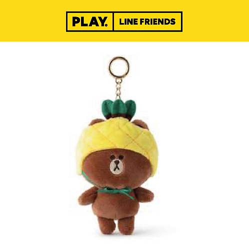 Fruity Bag Charm Plush Doll #BROWN