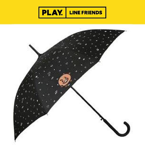 BT21 Pattern Black Automatic Long Umbrella #SHOOKY