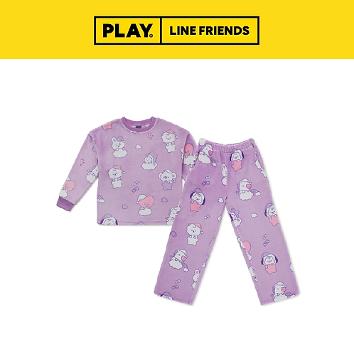 BT21 A Dream of Baby Pajama Set #LightPurple