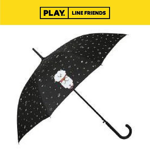 BT21 Pattern Black Automatic Long Umbrella #RJ