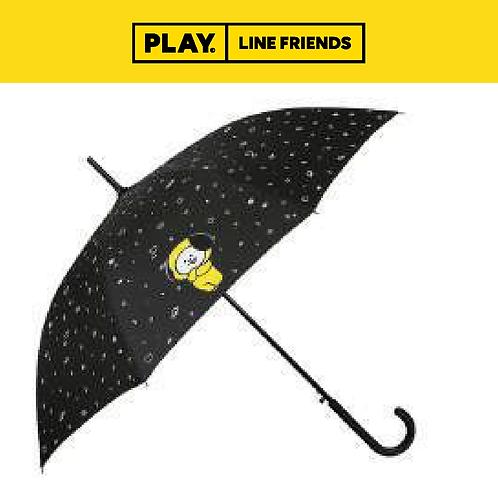 BT21 Pattern Black Automatic Long Umbrella #CHIMMY