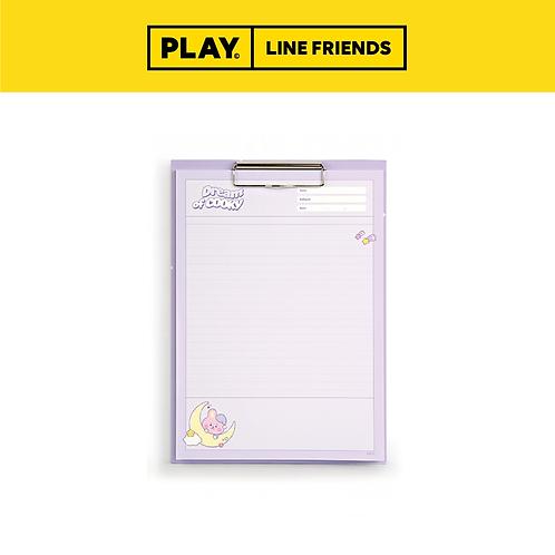 BT21 Clipboard & Notepad Set A4 [Dream] #COOKY