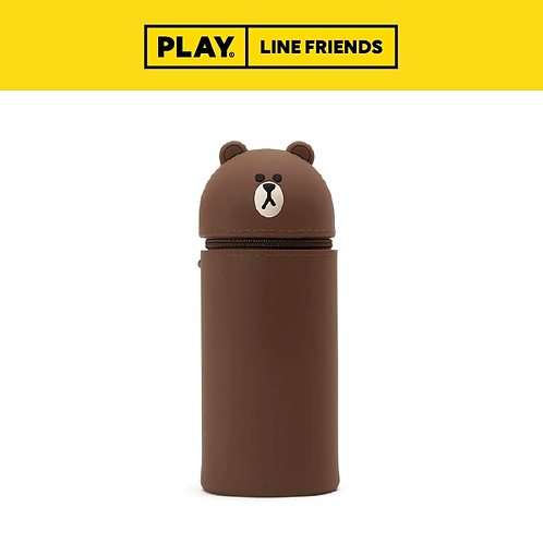 Standing Silicone Pencil Case #BROWN
