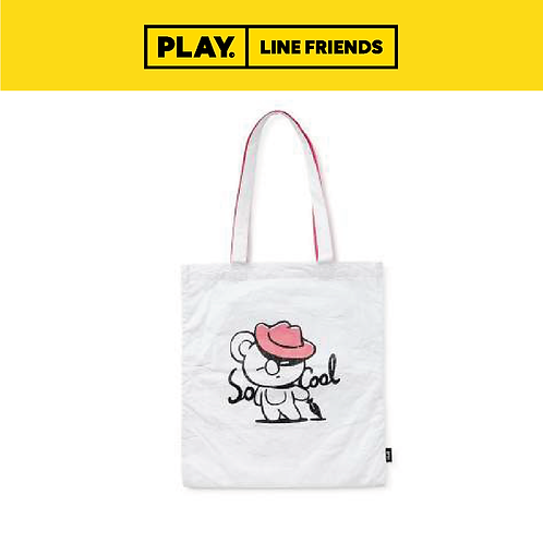 BT21 Music Tyvek Shoulder Bag - White #KOYA