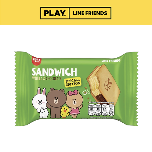 WALL'S LINE FRIENDS Sandwich Ice Cream
