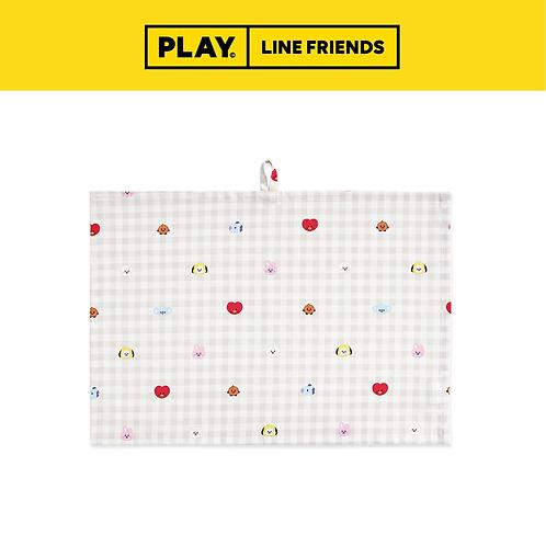 BT21 Universtar Check Kitchen Fabric Mat