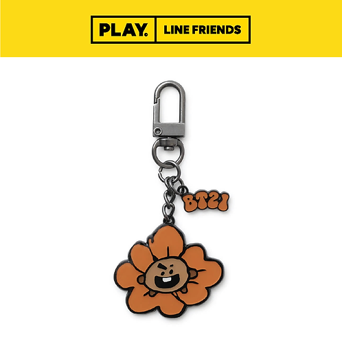BT21 Flower Metal Key Ring #SHOOKY