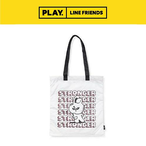 BT21 Music Tyvek Shoulder Bag - White #COOKY
