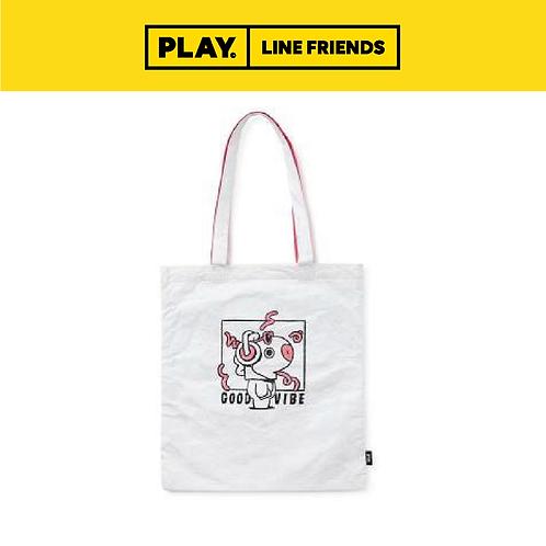 BT21 Music Tyvek Shoulder Bag - White #MANG