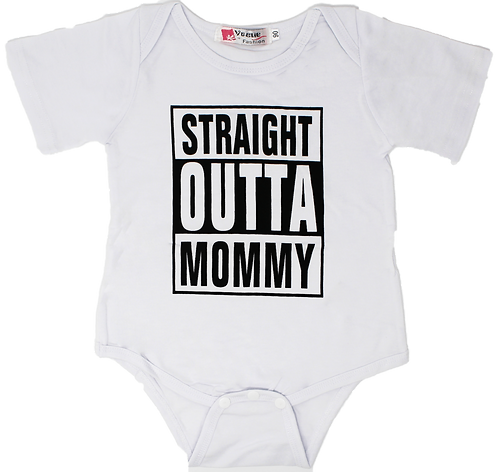 Rad Baby Straight Outta Mommy Onesie