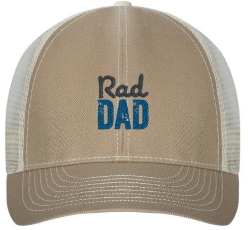 Rad Dad Trucker Hat Tan