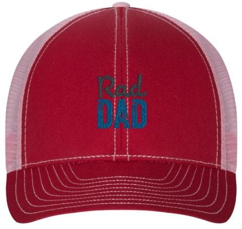 Rad Dad Trucker Hat Red