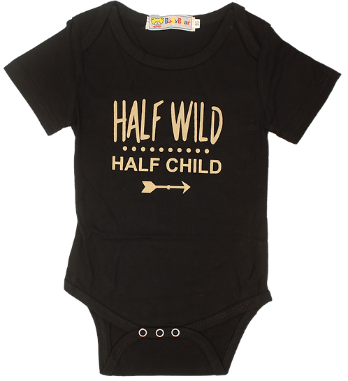 Rad Baby Half Wild Half Child Onesie