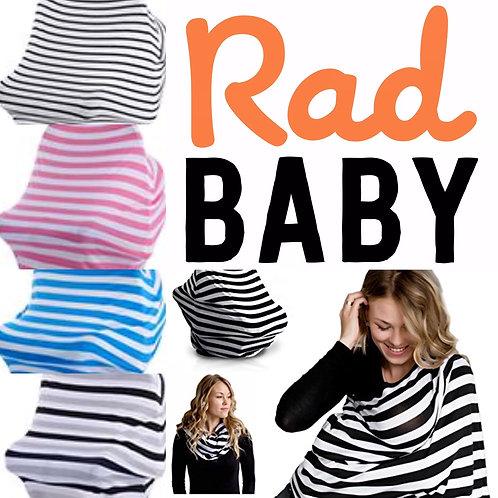 Rad Baby Nursing Car Seat Scarf Stroller Cover