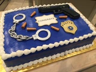 POLICE THEMED QUARTER SHEET CAKE