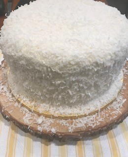 COCONUT CAKE WITH COCONUT SWISS MERINGUE