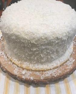 COCONUT CAKE WITH COCONUT SWISS MERINGUE