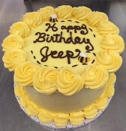 LEMONT BEE BIRTHDAY CAKE