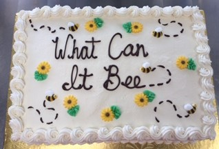 GENDER REVEAL-WHAT CAN IT BEE CAKE