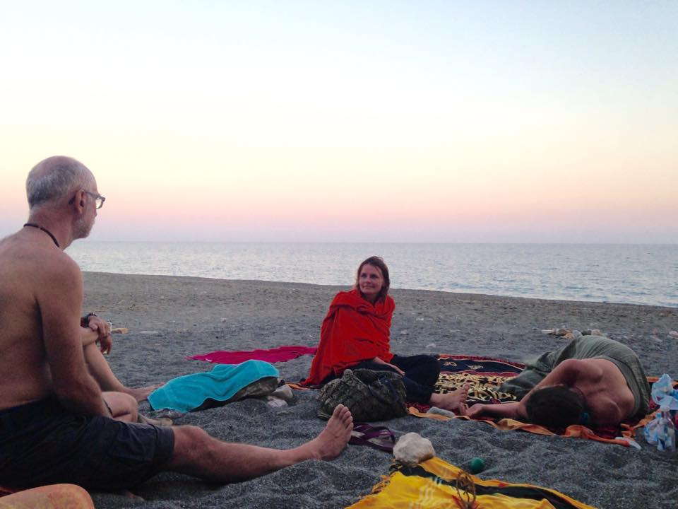 Satsang on the beach, Crete