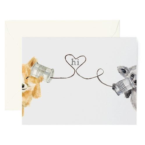 Tin Can Hello Card