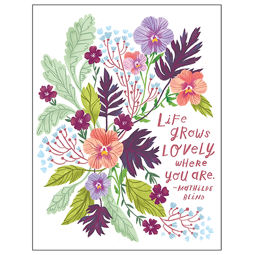 Life Grows Lovely Birthday