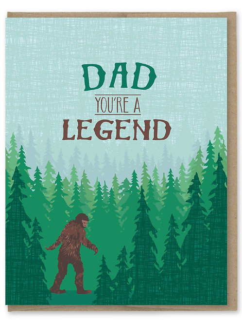 Dad You're a Legend Card
