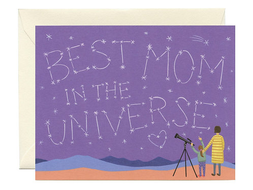 Best Mom in the Universe Card