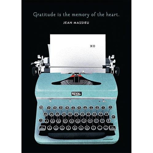 Typewriter Thank You