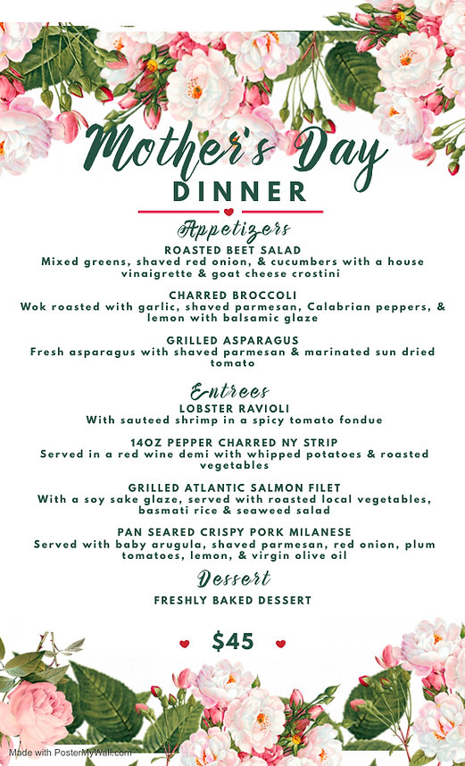 Copy of Copy of Mothers Day Lunch Menu T