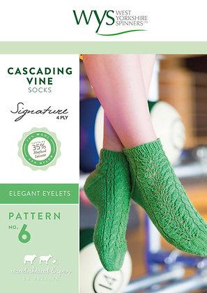 Cascading Vine Sock Pattern