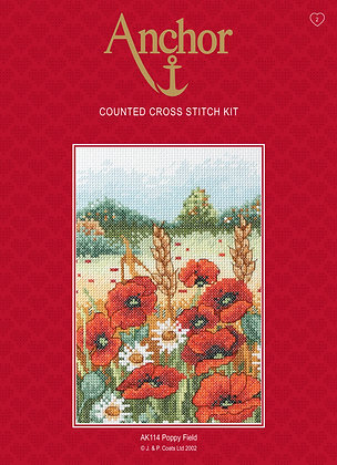 Anchor Cross Stitch | Poppy Field