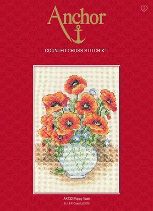 Anchor Cross Stitch | Poppy Vase