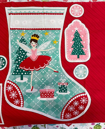 Nutcracker Fabric Stocking Panel