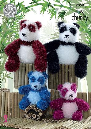 King Cole 9059 Tinsel Panda
